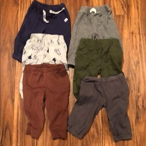 Lot of 6 Carter's boys 6 month pants
